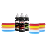 Sonax PROFILINE Polituren rotativ 2 & Royal Pads THIN...